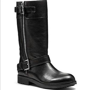 Coach Gracey Black Moto Boot Size 9B